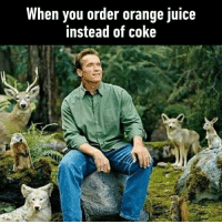 9gag, Juice, and Memes: When you order orange juice  instead of coke Nature is my friend. Follow @9gag