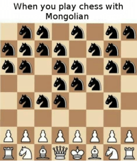 Chess, Guess, and Play: When you play chess with  Mongolian Guess I'll die https://t.co/oOrmMmWsWz