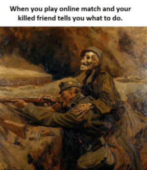 Dank, Memes, and Target: When you play online match and your  killed friend tells you what to do. Happens all the time by FirestonesFury MORE MEMES