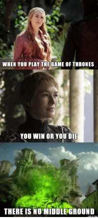 [EVERYTHING] Most relevant quote after last night.: WHEN YOU PLAY THE GAME OF THRONES  YOU WIN OR YOU DIE  THERE IS NO MIDDLE GROUND [EVERYTHING] Most relevant quote after last night.