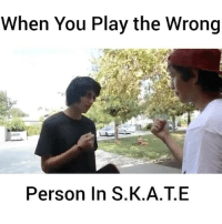 Another One, Soon..., and Skate: When You Play the Wrong  Person In S.K.A.T.E This has to be my favorite skit I've done 😂💯 @jerryfuckingolden @chrischann let's film another one soon 👊🏼 skatermemes