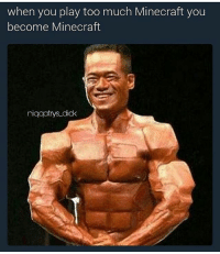 Memes, Minecraft, and Too Much: when you play too much Minecraft you  become Minecraft  niqqatrys didk Minequeef -🐬