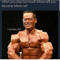 Memes, Minecraft, and Too Much: when you play too much Minecraft you  become Minecraft  niqqatrys did fuck (@niqqatrys_dick)