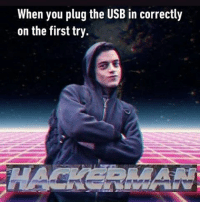 Memes, 🤖, and Usb: When you plug the USB in correctly  on the first try USB: you win this time. Follow @9gag 9gag mrrobot usb