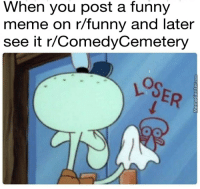 R Funny: When you post a funny  meme on r/funny and later  see it r/ComedyCemetery  LSER