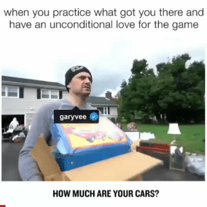 Cars, Love, and The Game: when you practice what got you there and  have an unconditional love for the game  garyvee  HOW MUCH ARE YOUR CARS? The hustle is real 💯 @garyvee https://t.co/kE96FUegGg