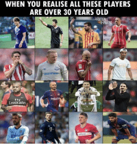 😥😭 🔺FREE FOOTBALL EMOJIS➡️LINK IN OUR BIO! Credit: @thefootballarena: WHEN YOU REALISE ALL THESE PLAYERS  ARE OVER 30 YEARS OLD  SportPesa  10  FIV  Rakute  Emirate  T.  aispar 😥😭 🔺FREE FOOTBALL EMOJIS➡️LINK IN OUR BIO! Credit: @thefootballarena