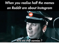 Instagram, Memes, and Reddit: When you realise half the memes  on Reddit are about Instagram  Are we the normies? Just another meta