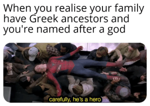 I didn't choose my blessing: When you realise your family  have Greek ancestors and  you're named after a god  carefully, he's a hero I didn't choose my blessing