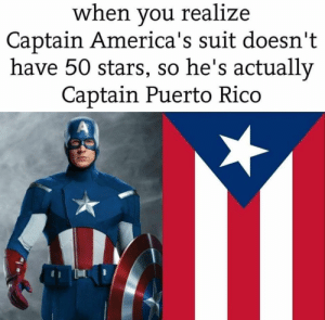 Arguing, Lol, and Reddit: when you realize  Captain America's suit doesn't  have 50 stars, so he's actually  Captain Puerto Rico  A LOL, Can't argue with that Americans.