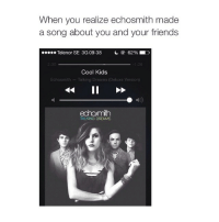 Echosmith, Ed, Edd N Eddy, and Friends: When you realize echosmith made  a song about you and your friends  Telenor SE 3G 09:38  62% ED  2:30  1:26  Cool Kids  Echosmith Talking Dreams (Deluxe Version)  echomith  TALKING DREAMS U will never know if ur the cool kids or the one who want to be cool, Haha!