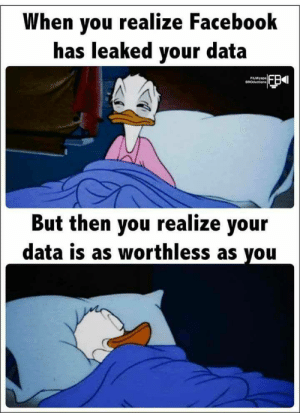 Worthless: When you realize Facebook  has leaked your data  FILMiyapa  BROductions  But then you realize your  data is as worthless as you Worthless