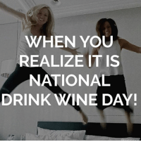 Thanks for the heads up @roseseason 🍷🍷🍷🍷: WHEN YOU  REALIZE IT IS  NATIONAL  DRINK WINE DAY! Thanks for the heads up @roseseason 🍷🍷🍷🍷