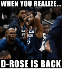 Vintage Derrick Rose had 31 points including 7-9 on 3-pointers.   But the best moment was him draining a 3-pointer and his 🔥 NSFW yelling reaction at Lonzo Ball: bit.ly/DRoseNSFW: WHEN YOU REALIZE  @NBAMEMES  D-ROSE IS BACK Vintage Derrick Rose had 31 points including 7-9 on 3-pointers.   But the best moment was him draining a 3-pointer and his 🔥 NSFW yelling reaction at Lonzo Ball: bit.ly/DRoseNSFW