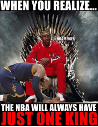 The GOAT! #BullsNation: WHEN YOU REALIZE...  @NBAMEMES  THE NBA WILL ALWAYS HAVE  JUST ONE KING The GOAT! #BullsNation
