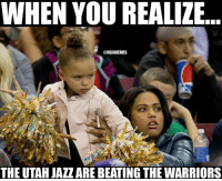 [BREAKING] With 7 minutes left the Utah Jazz LEAD the Golden State Warriors. Follow LIVE: bit.ly/ClutchPoints: WHEN YOU REALIZE  @NBAMEMES  THE UTAH JAZZ ARE BEATING THEWARRIORS [BREAKING] With 7 minutes left the Utah Jazz LEAD the Golden State Warriors. Follow LIVE: bit.ly/ClutchPoints