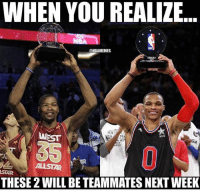 Double-Tap if you think something's gonna go down during All Star Weekend👀 Your battery % is your FG %. Comment it below👇: WHEN YOU REALIZE  ONBAMEMES  WEST  ALLSTAR  THESE2WILL BE TEAMMATES NEXT WEEK Double-Tap if you think something's gonna go down during All Star Weekend👀 Your battery % is your FG %. Comment it below👇