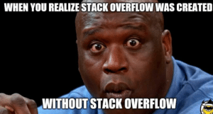 Stack, Stack Overflow, and You: WHEN YOU REALIZE STACK OVERFLOW WAS CREATED  WITHOUT STACK OVERFLOW Is this even possible?