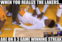 Can the Lakers make the playoffs? Credit: Ryan Rosenberg: WHEN YOU REALIZE THE LAKERS  @NBAMEMES  78  PHX  20  21.0  BRD  ARE ON A 3 GAMEWINNING STREAK Can the Lakers make the playoffs? Credit: Ryan Rosenberg