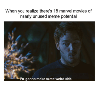 Meme, Memes, and Movies: When you realize there's 18 marvel movies of  nearly unused meme potential  I'm gonna make some weird shit. Get to work guys via /r/memes https://ift.tt/2xNdjeN