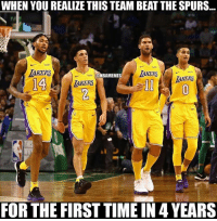 Nba, Spurs, and Time: WHEN YOU REALIZE THIS TEAM BEAT THE SPURS...  wish  AKERS  14  ONBAMEMES  AKERS  AKERS  AKERS  THIS  FOR THE FIRST TIME IN 4 YEARS LakeShow beat Spurs Nation for the first time in 4 years!