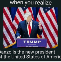 Oh no :'(  - Monkey D. Luffy: when you realize  TRUMP  anzo is the new president  of the United States of Americ Oh no :'(  - Monkey D. Luffy