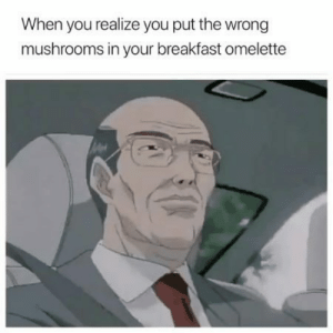 Work is gonna be real interesting by dethmstr FOLLOW 4 MORE MEMES.: When you realize you put the wrong  mushrooms in your breakfast omelette Work is gonna be real interesting by dethmstr FOLLOW 4 MORE MEMES.