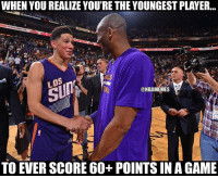 Book it 💯 70points (but still FuckKD): WHEN YOU REALIZE YOU'RE THE YOUNGEST PLAYER...  @NBAMEMES  TO EVER SCORE 60+ POINTS IN AGAME Book it 💯 70points (but still FuckKD)