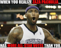 Zaza Pachulia... REALLY?? Smh: WHEN YOU REALIZE  ZAZA PACHULIA  THAN YOU.  HAS  MORE ALL-STAR VOTES Zaza Pachulia... REALLY?? Smh