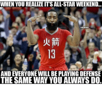 LMFAOOOO 😂😂😂😂😂: WHEN YOU REALIZEITS ALL-STAR WEEKEND..  TEMBAMEMES  AND EVERYONE WILL BE PLAYING DEFENSE  THE SAME WAY YOU AWAYS DO LMFAOOOO 😂😂😂😂😂