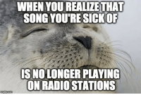 """Advice, Radio, and Tumblr: WHEN YOU REALIZETHAT  SONG YOURE SICKOR  IS NOLONGER PLAYING  ON RADIO STATIONS <p><a href=""""http://advice-animal.tumblr.com/post/167993734866/so-long-despacito"""" class=""""tumblr_blog"""">advice-animal</a>:</p>  <blockquote><p>So long Despacito</p></blockquote>"""