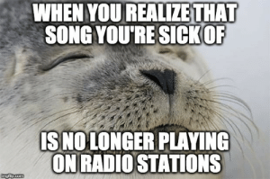 Radio, Song, and You: WHEN YOU REALIZETHAT  SONG YOURE SICKOR  IS NOLONGER PLAYING  ON RADIO STATIONS So long Despacito