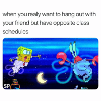 Struggle, Class, and Friend: when you really want to hang out with  your friend but have opposite class  schedules  SP The struggle 😢