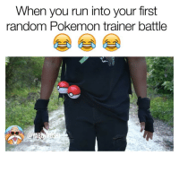 Head, Memes, and Pokemon: When you run into your first  random Pokemon trainer battle Them random pokemon trainers was annoying asf I know yall can relate😂😂😂 head to my youtube channel for the full video to see how it ends! 😭