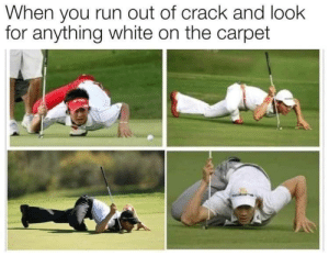 Dank, Memes, and Run: When you run out of crack and look  for anything white on the carpet Spider-Men? by Tkilli12 MORE MEMES