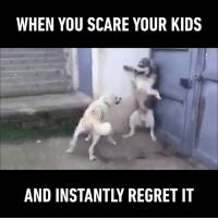 "Dank, Regret, and Scare: WHEN YOU SCARE YOUR KIDS  AND INSTANTLY REGRET IT ""I told you not to do that!""  Tap🔊"