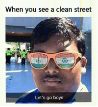 ^^: When you see a clean street  Let's go boys ^^