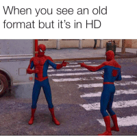 Meme, Spider, and SpiderMan: When you see an old  format but it's in HD No longer have to use the old animated Spider-Man pointng meme. Invest in this new updated one for easy profits! via /r/MemeEconomy https://ift.tt/2x2SWcB