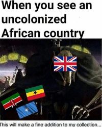 When you see an  uncolonized  African country  This will make a fine addition to my collection... meme memes dank dankmemes filthyfrank papafranku chinchin pinkguy killme donaldtrump hillaryclinton oc mlg lol wtf bluelivesmatter ayy lmao lmfao ayylmao 420 bushdid911 cancer autism bleach harambe triggered cringe