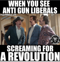 LOL JOKES ON YOU: WHEN YOU SEE  ANTI GUN LIBERALS  GKEEPAMERLALUDA  ICA  NOR FIRE  SCREAMING FOR  A REVOLUTION LOL JOKES ON YOU