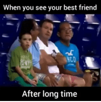 That reaction 😁😁 follow @idiotic_sperm for more: When you see your best friend  After long time That reaction 😁😁 follow @idiotic_sperm for more