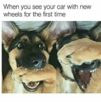 Damn, it looks good 😎: When you see your car with new  wheels for the first time Damn, it looks good 😎