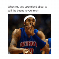 Shhhh: When you see your friend about to  spill the beans to your mom  ETRON Shhhh