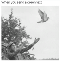Dank, 🤖, and Green: When you send a green text