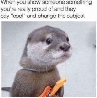 "Memes, Cool, and Http: When you show someone something  you're really proud of and they  say ""cool"" and change the subject <p>thanks for nothing via /r/memes <a href=""http://ift.tt/2xtUvzv"">http://ift.tt/2xtUvzv</a></p>"
