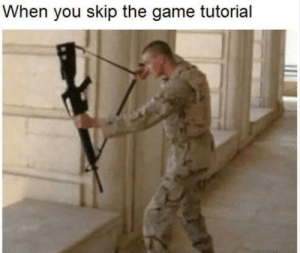 The Game, Game, and MeIRL: When you skip the game tutorial Meirl