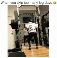 Too much too soon 😂 Credit: @fanny_josefine: When you skip too many leg days  Just  get  ver Too much too soon 😂 Credit: @fanny_josefine