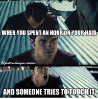 Don't touch my hair. It's too great for you. -Amethyst👑 Nightwing and I just joined up with our friend over at @realcomic_memes and created a new account!! @your_superhero_memes is a page dedicated to memes you all send in! But don't worry, it'll also be a fanpage for art, news, and cosplays! So give it a follow! Make sure to submit your ORIGINAL memes either here, over at @realcomic_memes or at @your_superhero_memes: WHEN YOU SPENT AN HOURON YOUR HAIR  jastice league.memes  AND SOMEONE TRIES TO TOUCHIT Don't touch my hair. It's too great for you. -Amethyst👑 Nightwing and I just joined up with our friend over at @realcomic_memes and created a new account!! @your_superhero_memes is a page dedicated to memes you all send in! But don't worry, it'll also be a fanpage for art, news, and cosplays! So give it a follow! Make sure to submit your ORIGINAL memes either here, over at @realcomic_memes or at @your_superhero_memes