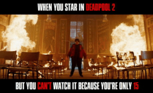 Deadpool, Star, and Watch: WHEN YOU STAR IN DEADPOOL 2  BUT YOU CAN'T WATCH IT BECAUSE YOU'RE ONLY 15 Julian Dennison in Deadpool 2