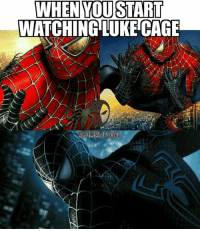 Memes, Watch, and Watches: WHEN YOU START  WATCHING LUKE CAG We are Robin